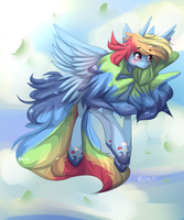 Alicorn Rainbow Dash by Jupecat