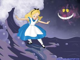Alice-Surfing The Sea of Tears by sebas-toon