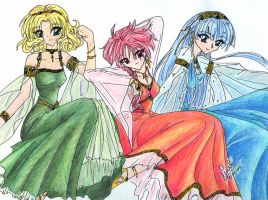 3 knights by CLAMP-Club
