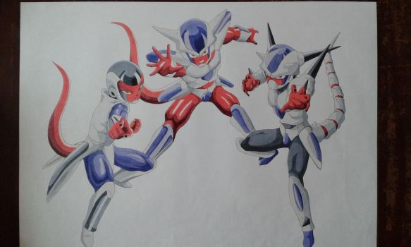 Dragon Ball Heroes Frieza Race Avatars - Markers by Rubidium91