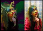 Photo maniplation Before and after  creature by suki42deathlake