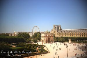 View of the Arc de Triomphe du Carrousel by maremerald