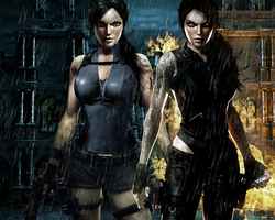 Lara and Doppelganger 2 by Halli-well