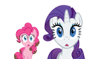 Rarity and Pinkie Wat by RyokoHaze