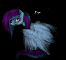 Leave me and my lovely black background alone by Sewni