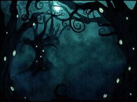 Forest who has eyes by Vongrell