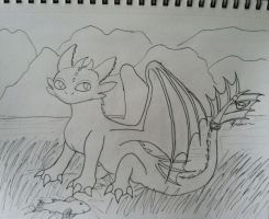 A wild Toothless Appears! -Lineart- by yd6104