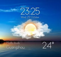 Real Sky Weather Widget for xwidget by jimking
