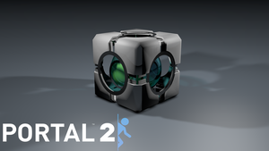 Portal 2 Refraction Cube by irgames