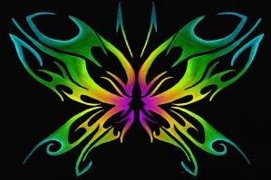 Tribal Butterfly Design by TechBehr