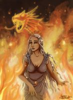 Daenerys Queen of fire by ClaireLyxa