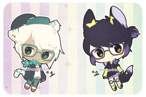 MEGANEEE Adopts: 017-018 CLOSED by PizzaHugs