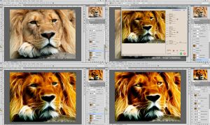 Fractalius Lion (creation process) by JovanXtremeDesign