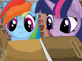 Twilight and Rainbow at Library (Remastered) by TheGarry-D