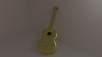 Ukelele in gold by Shogran