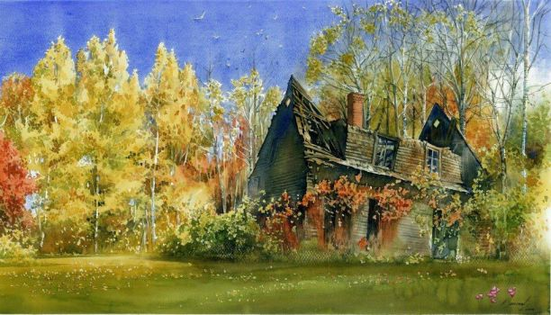 Old Cottage by bartlomiejkoter
