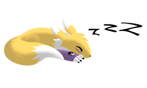 Sleepy Little Renamon 2 by CoolProjects