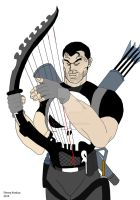 The Punisher and His War Harp by OwossoHarpist