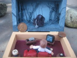 Diorama horror movie The Ring Samara's coming by SelloCreations