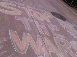 Protest Art, stop the war by MidnightLaughter333