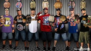 WWE John Cena Title History Wallpaper Widescreen by Timetravel6000v2