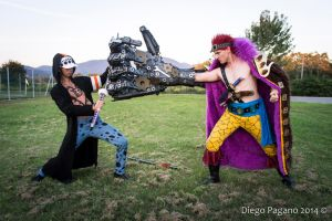 One Piece - Trafalgar Law and Eustass Kidd by Tony-Brown-Cosplay
