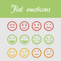 Flat emoticons |FREEBIE| by CrassusCZ