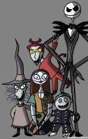 Pumpkin King and Friends by InvaderAllieNinja