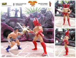 GOLDEN AXE the duel ax vs death adder by crowbrandon