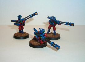Tau Rail Rifle Team by Dutchkat