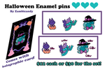 Holloween enamel pin pre-orders by zambicandy