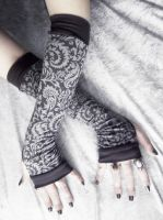 Evening Caller Arm Warmers by ZenAndCoffee