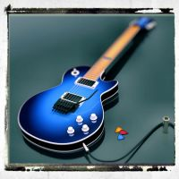 Blue Les Paul DOF by cheyrek