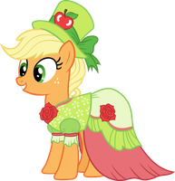 Applejack in Gala dress by Magister39