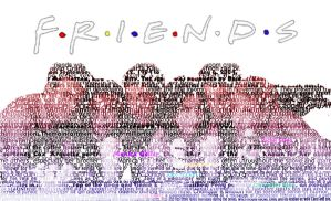 F.R.I.E.N.D.S Text Portrait by godnessimaginary
