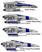 E-Wing Variants by MarcusStarkiller