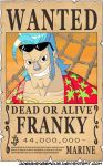 WANTED Dead or Alive - Franky by JoeyDangerous