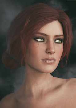 Triss Merigold | The Witcher 3 Fanart by Lehira-Rutherford