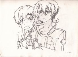kirito and asuna by ShadowStormTrooper