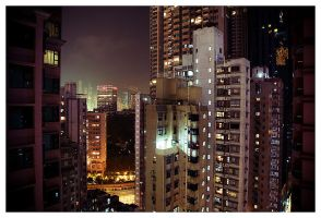 View of Wanchai by zerocomplex