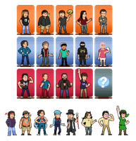 Grumpcade Character Select Spriteset by CaptainQuestion