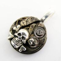 Skull Steampunk Pendant by Create-A-Pendant