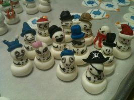 Snowmen Cupcake Toppers by Spudnuts