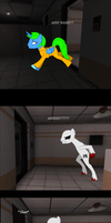 Sparky's big SCP Escape (The Shy colt's abilities) by thequeenalien