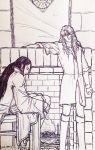 Maedhros and Maglor and Fireplace by fish-in-fridge
