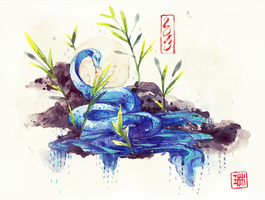2013: Water Snake by Lynndoodles