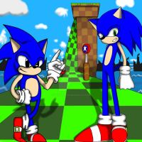Classic and Next-Gen Sonic by sonicspeed123
