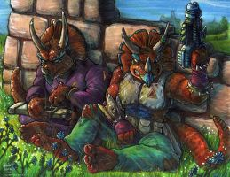 Triceratons by Phraggle