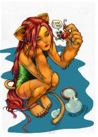 Cat girl by Paulo Barrios by Champe-rp