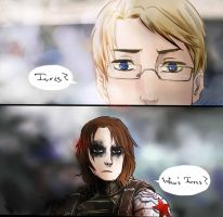 Winter Soldier Hetalia America and Lithuania by Nati13321